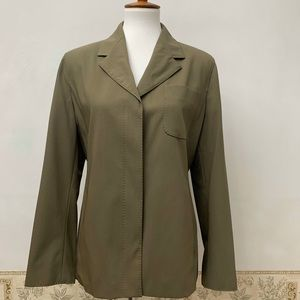 MaxMara Olive Green 100% Virgin Wool Blazer